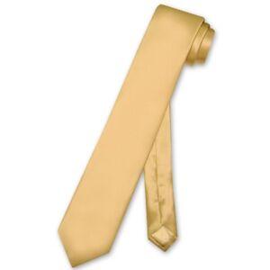 """Biagio 100% SILK Narrow NeckTie Skinny Solid Color Men's 2.5"""" Thin Neck Tie"""