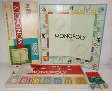 VTG 1960s Monopoly Board Game Complete with Tokens Money Instructions Cards