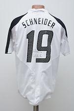 GERMANY SIGNED 2004/2005 MATCH WORN FOOTBALL SHIRT JERSEY ADIDAS SCHNEIDER #19