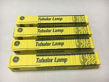 New listing Ge 34241 Tubular Lamp 20T61/2Dc/F 120V 20W Frosted Bulb (Lot of 4 Bulbs) Tested