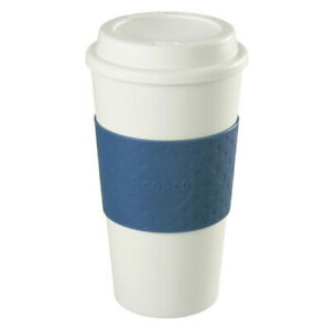Travel Mug Plastic Blue 450ml Durable