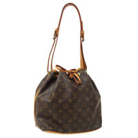 LOUIS VUITTON PETIT NOE SHOULDER BAG PURSE MONOGRAM M42226 A51613