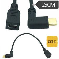 MINI USB 2.0 5Pin angolato per donna USB 3.1 TIPO C CONNETTORE MASCHIO CAVO DATI 25 cm