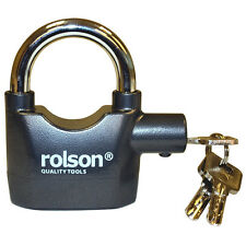 Alarm Padlock High Security Alarm Lock 100db Bike Motorbike Wheel Rolson 66857