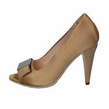 scarpe donna RICHMOND 35 EU decoltè beige oro WH897