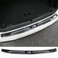 2018-2020 For BMW X3 Black Steel Rear Bumper Protector Scuff Plate Guards Sill