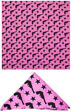 35548 Pink Pistols Stars Bandana Doo Rag Head Wrap Handgun Gun Revolver Sourpuss