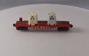 Lionel 6805 Vintage O Radioactive Atomic Disposal Flatcar