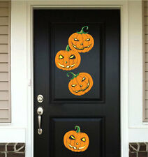 Halloween Pumpkin Wall Decals Wallpaper Scary Seasonal Decorations Vinyl, h05