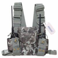 Pocket Chest Pack Bag Harness for Motorola Baofeng UV-9R UV-5R Two Way Radio