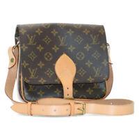 LOUIS VUITTON Monogram Cartouchiere MM Shoulder Bag M51253 LV Auth 13679