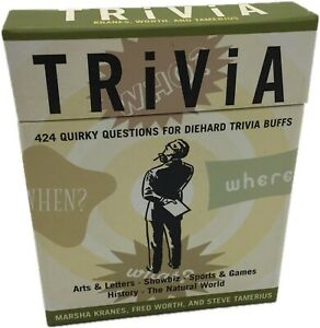 Trivia 424 Cards Quirky Questions For Diehard Trivia Buffs