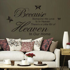 Because Someone We Love Is In Heaven Sayings Words Home Decor Wall Sticker DMX