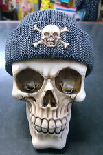 Skull Skeleton head With Fisherman's Cap Hat Ornament Pagan Money Bank
