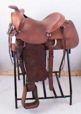 "Tex Tan Genuine Leather Ranch Pleasure or Trail Western Horse Saddle 15.5"" FQHB"