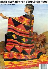 Knitting Crochet PATTERNS  AFGHANS Indian Aran Sampler Ripple Bobble #516