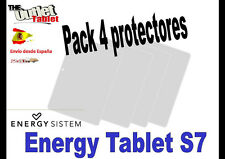 "**Pack 4 Protectores de pantalla para TABLET ENERGY SYSTEM S7 7"" UNIVERSAL"