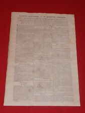 JOURNAL GAZETTE NATIONALE OU LE MONITEUR UNIVERSEL N° 309 DIM 4 NOVEMBRE 1792