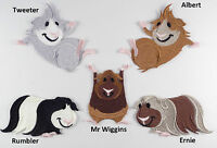 Cute Guinea Pig / Cavy Embroidered Characters Motif / Patch / Badge / Applique