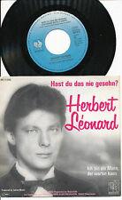 HERBERT LEONARD 45 TOURS GERMANY HAST DU DAS NIE GESEHN