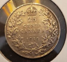 Canada 1919 25 Cents - George V - Silver - VF30