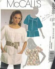 McCall's M5665 Misses Button Front Tunic Top in Three Variations Sizes 8-16 New