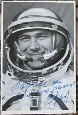 Cosmic Photo Card Rocket Space Suit Flight Fly Man Lazarev Cosmonaut Autograph V