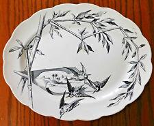 "Antique Loochoo charger  16"" serving plate platter P&B Aesthetic birds Victorian"