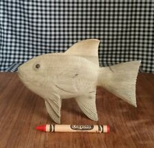 Tropical Fish Wood Carving Figurine, Marine Sea Beach Ocean Decor, Aquarium