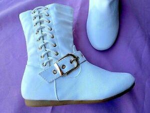 White Women's Flat Booties Rachel 35 Sizes: 5-8.5