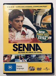 Senna DVD 2-Discs Autobiography Film Formula One Racing Cars Region 4 Aus Movie