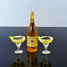 Dollhouse Miniatures Beverage Drink Cocktail Wine Champagne Bottle Supply Set
