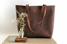 Ladies Leather Bag ,Leather Tote Bag, Leather Baby Bag, Medium Leather Tote Bag