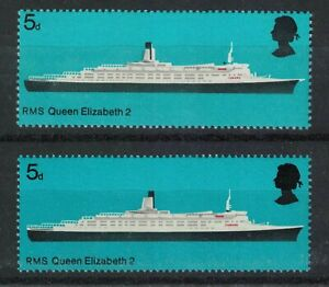 1969 GB Ships SG778 Shift of Black Error U/M Supplied with Normal (C37) 611