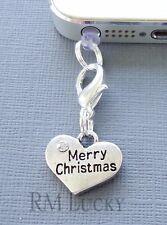MERRY CHRISTMAS cell phone Charm Anti Dust proof Plug cap ear jack C214