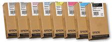 8 x Original Tinte Epson Stylus Pro 9800 9880 / T6031 T6032 T6033 -T6039 MHD2015
