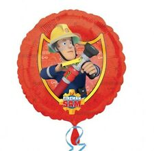 "Fireman Sam Birthday Party Decoration 18"" Non Message Foil Balloon"