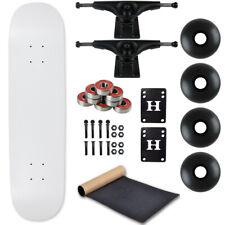 "Moose Complete Skateboard Dip White 7.0"" With Black Trucks and Black Wheels"