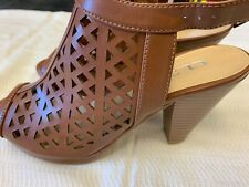 CL by Laundry Wishes Heeled Sandal, Rich Brown, New, Size 7.5