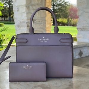 NWT KATE SPADE STACI MD SATCHEL DUSKCITY BAG LEATHER/WALLET OPTIONS WKRU6951