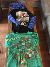 18pc. Boys 10-12 Clothing Lot, Pjs And Shirts, Many Shirts Never Worn