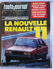 Auto Journal du 1/12/1982; Essai Fuago TD/ Peugeot 305 GT/ Golf-R5 / Ford Escort
