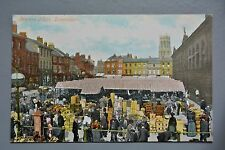 R&L Postcard: Doncaster Market Place, Sellers Traders, Busy Scene