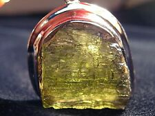 Real Czech Moldavite Pendant - FREE Fast Shipping, 925 Silver, Great Price