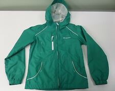 Columbia Kids Jacket Rainguard Hooded Mesh Lined Teal Girls Youth Size 10/12