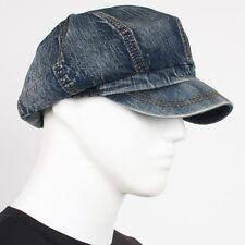 NEW Unisex Denim Hat Jean Newsboy Fashion 8 Panel Applejack SK Gatsby Cabbie Cap