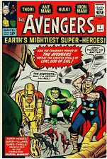The Avengers #1 Facsimile Reprint Cover Only w/Orig Ads 1st Avengers Key (1963)