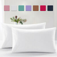 2 Pcs Ultra Soft Pillow Case Covers 400TC 100% Egyptian Cotton Bed Pillowcases