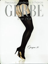 Gerbe Opaque 70, Suspender Stockings 70 DEN, Matt, Tactel Yarn, Black, 2 = 38-40