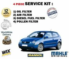 FOR VOLKSWAGEN VW POLO 1.4 TDi 2001-2007 OIL AIR FUEL POLLEN FILTER SERVICE KIT